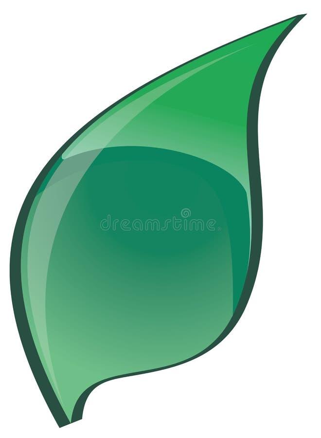 鲜绿色的叶子 库存例证