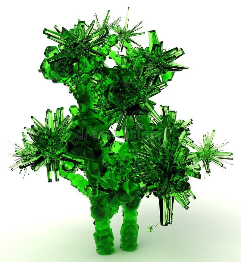 鲜绿色结构树 皇族释放例证