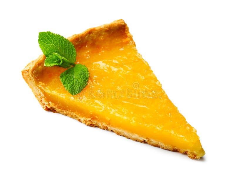 鲜美切片柠檬馅饼 免版税库存照片