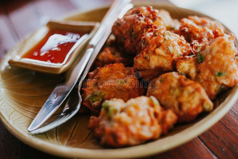 鲜美和辣泰国食物 图库摄影