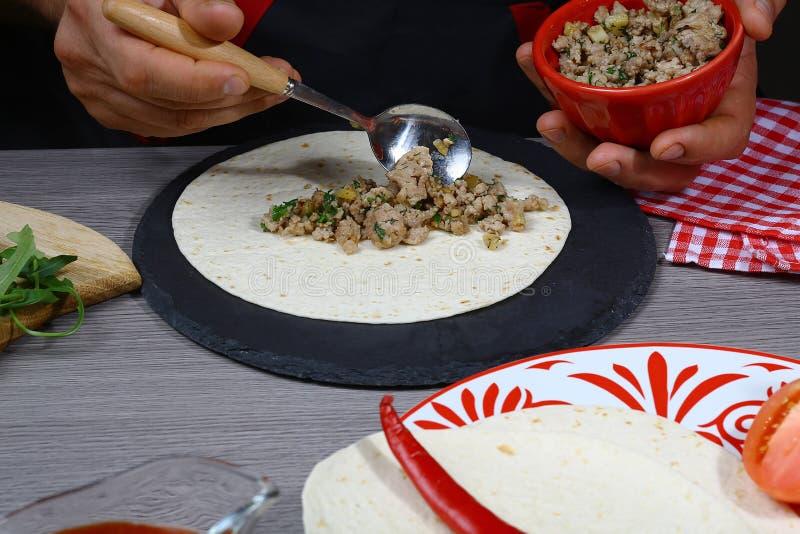 鲜美墨西哥烹调 库存图片