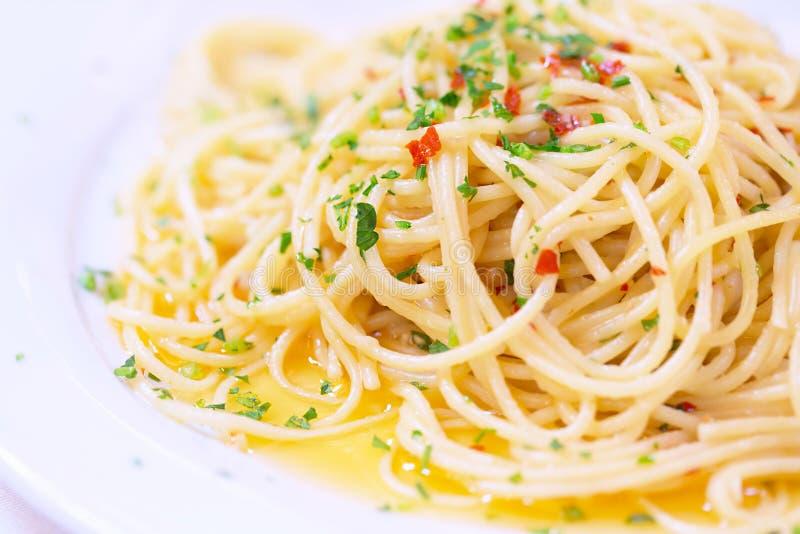 鲜美意大利的意大利面食 免版税库存照片