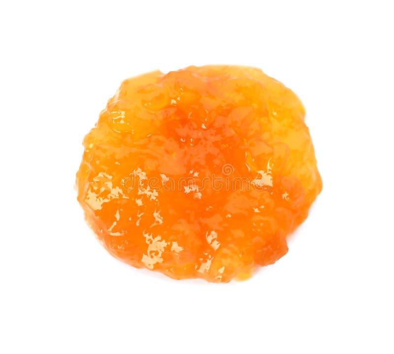 鲜美桃子果酱 库存图片