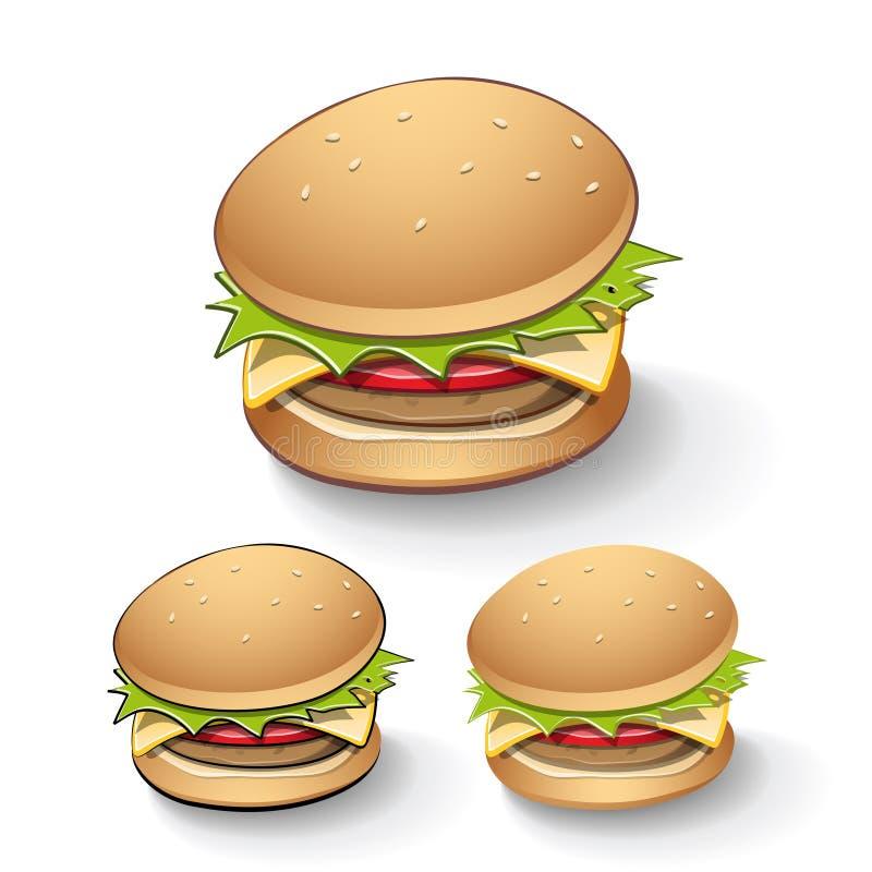 鲜美汉堡动画片 库存例证