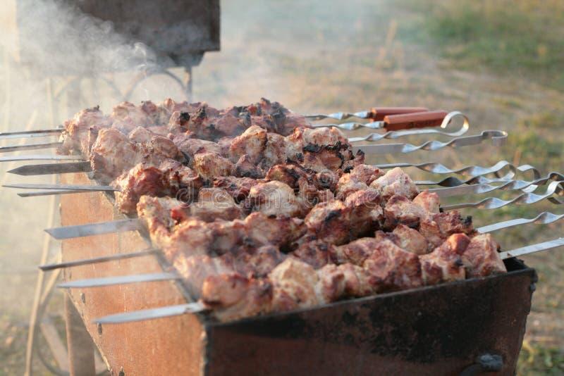 鲜美烤肉 库存照片
