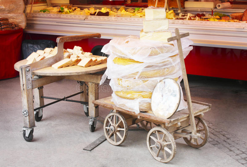 鲜美的干酪 库存图片