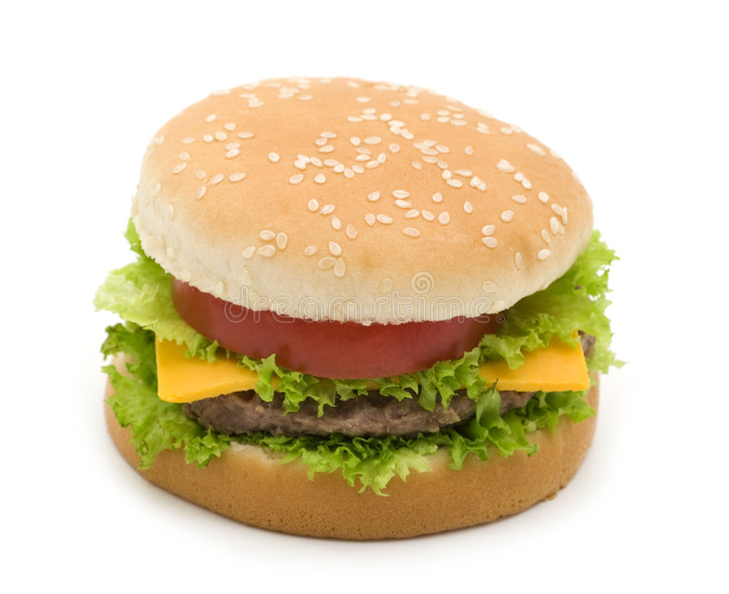 鲜美的汉堡包 库存照片
