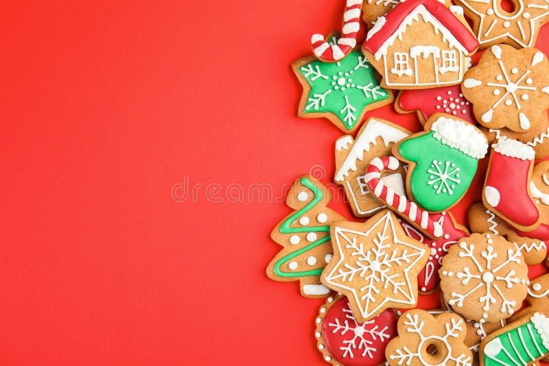 鲜美自创圣诞节曲奇饼 库存照片
