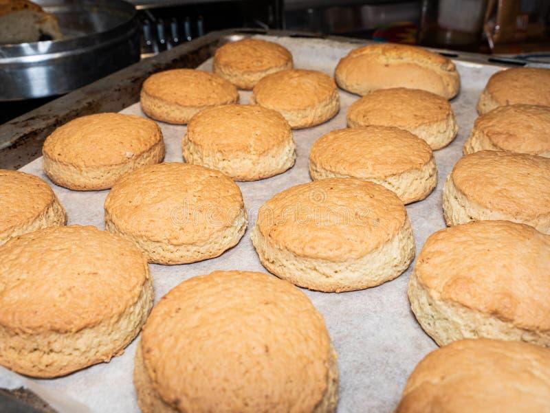 鲜美自创热的意大利曲奇饼新鲜从烤箱 免版税图库摄影