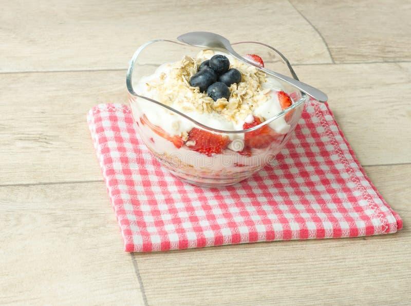 鲜美草莓的快餐健康和 库存照片