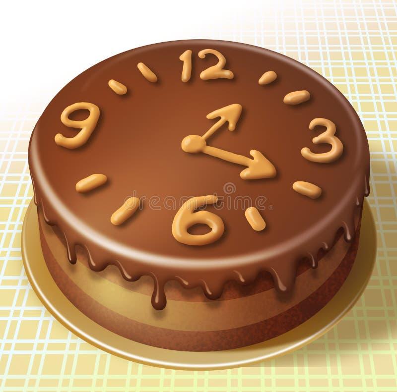 鲜美蛋糕 库存例证