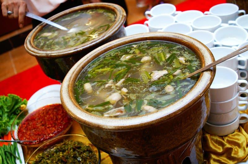 鲜美马来的汤 免版税图库摄影