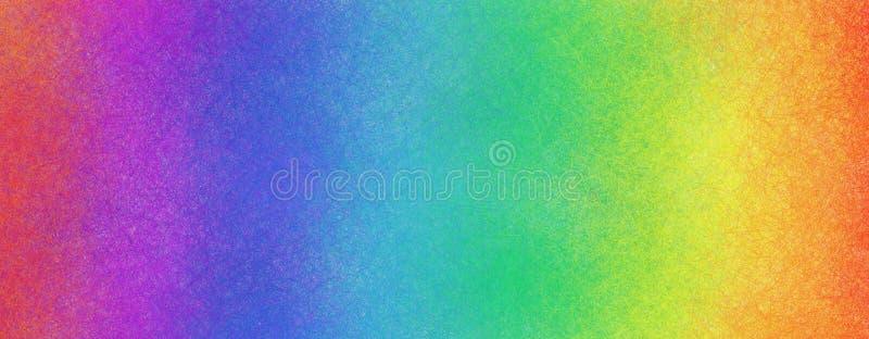 鲜艳的红橙黄绿蓝紫紫色和淡色纹理的彩虹色背景 库存图片
