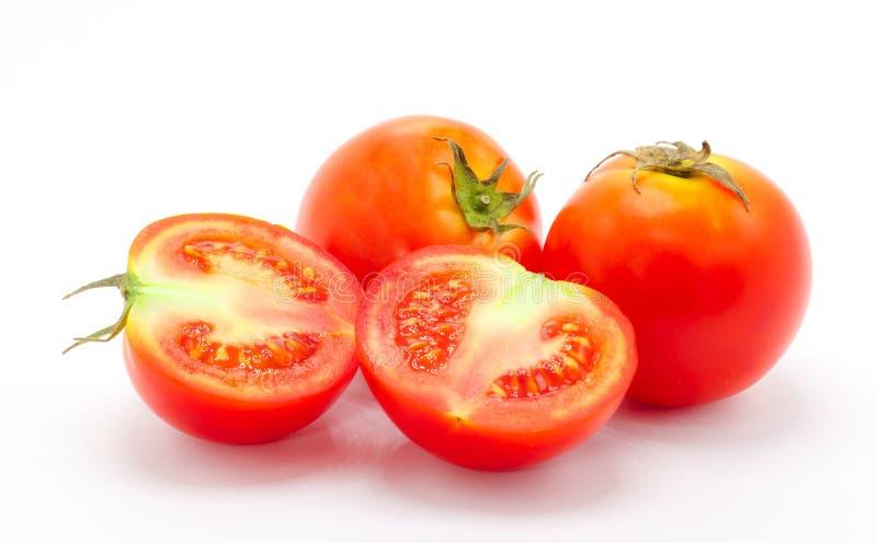 鲜西红柿特写 免版税库存照片