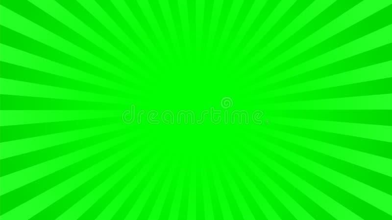 鲜绿色的光芒背景 皇族释放例证