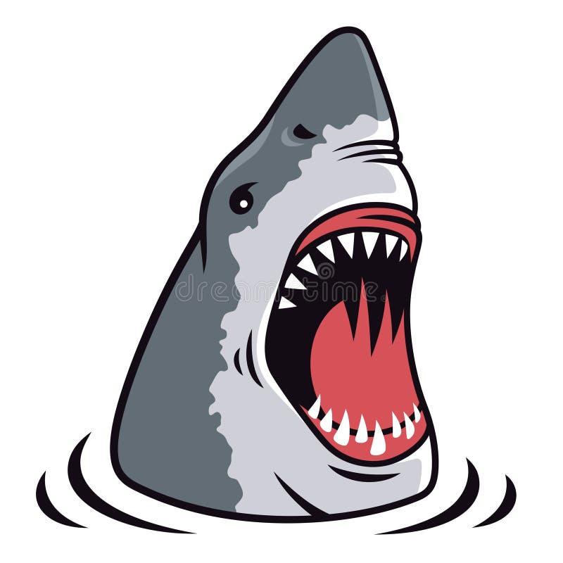 鲨鱼传染媒介003 库存例证