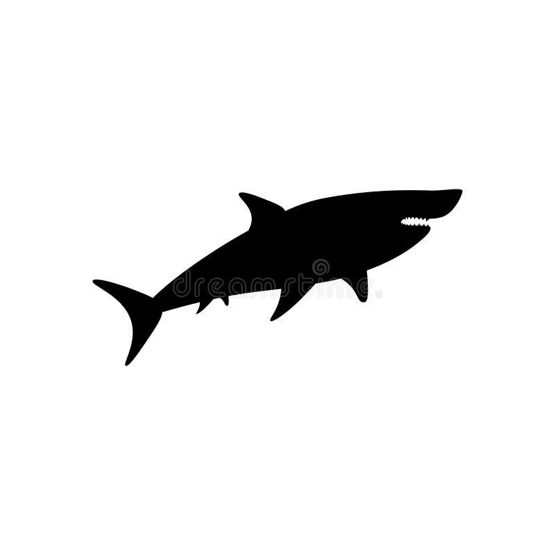鲨鱼剪影例证 库存例证