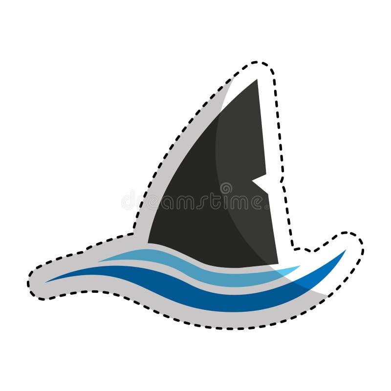 鲨鱼剪影戒备象 皇族释放例证