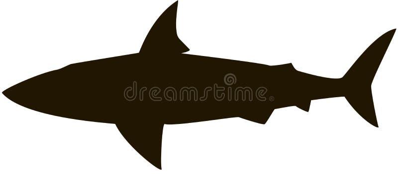 鲨鱼剪影 向量例证