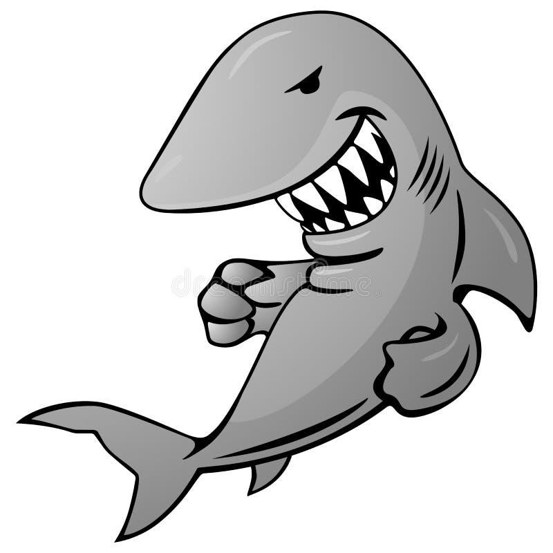 鲨鱼动画片传染媒介例证 皇族释放例证