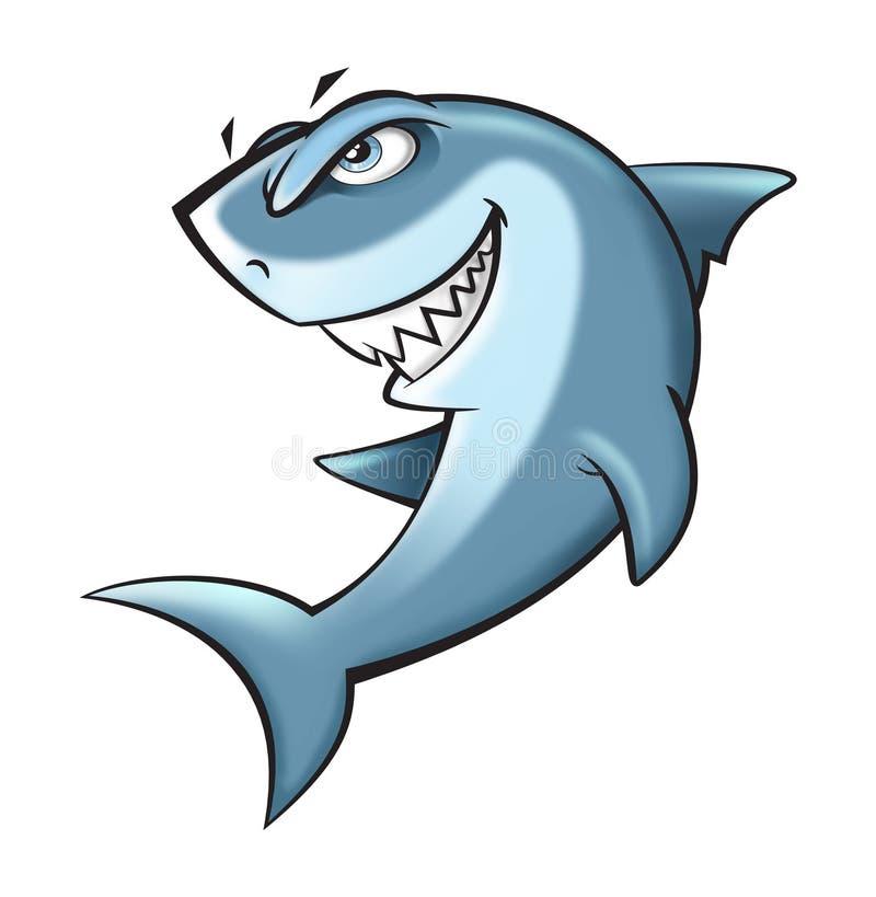 鲨鱼动画片例证 向量例证
