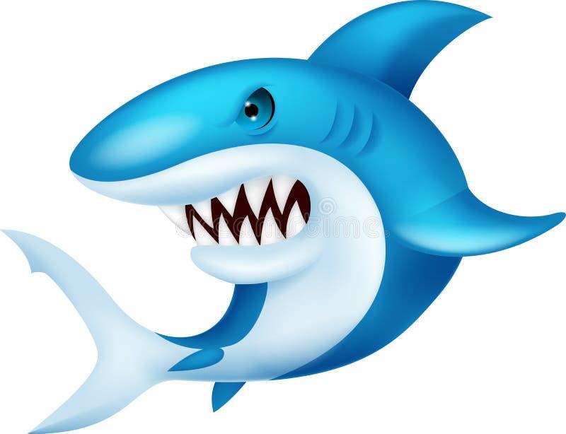 鲨鱼动画片 皇族释放例证