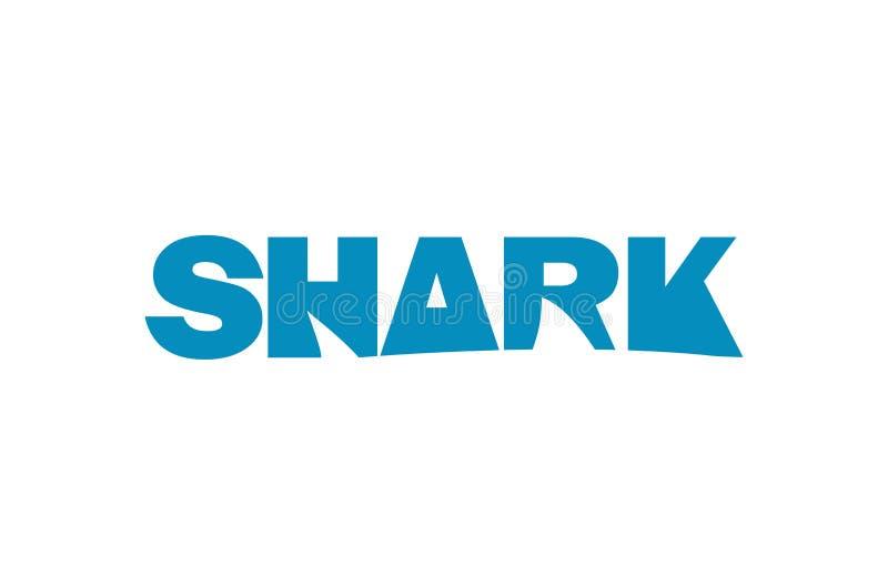 鲨鱼印刷术商标 库存例证