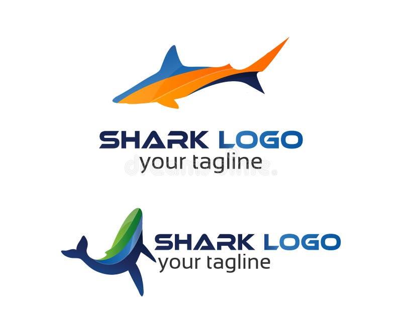 鲨鱼商标 向量例证