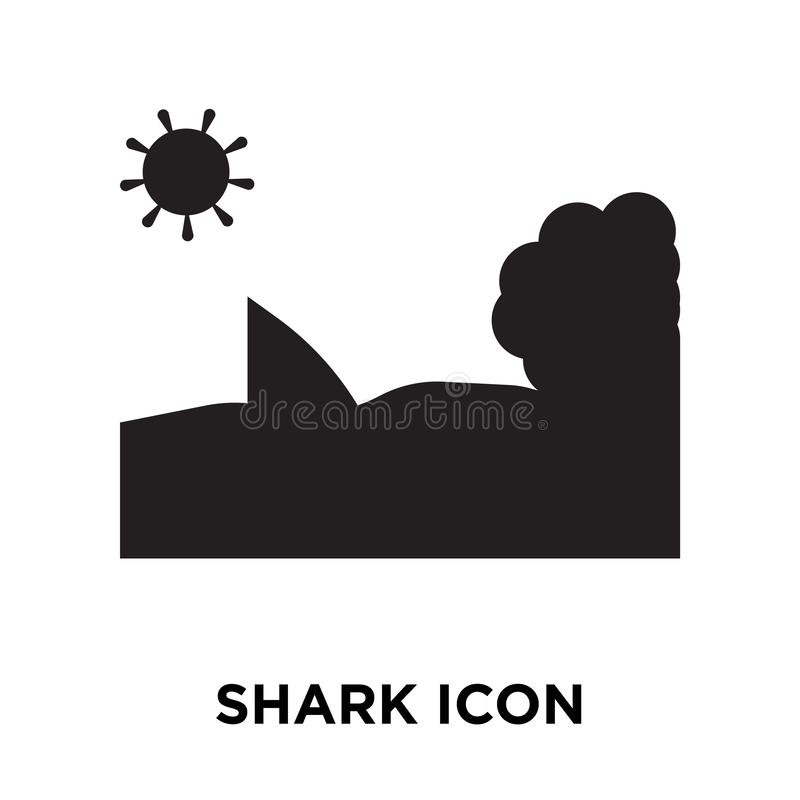 鲨鱼在白色背景隔绝的象传染媒介,商标概念  向量例证