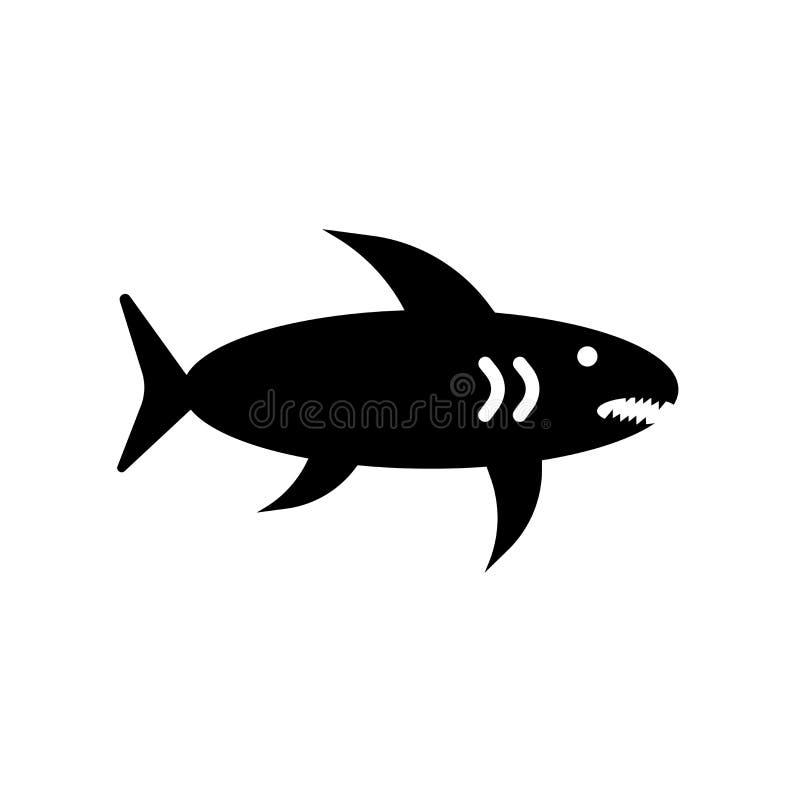 鲨鱼在白色背景隔绝的象传染媒介,鲨鱼标志 皇族释放例证