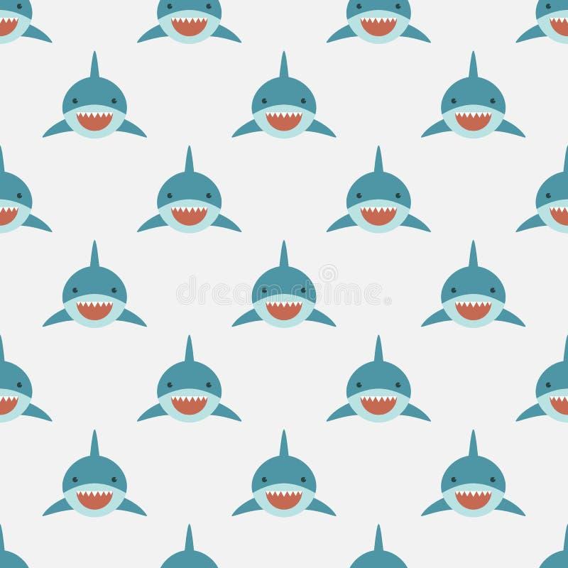 鲨鱼无缝的样式 库存例证