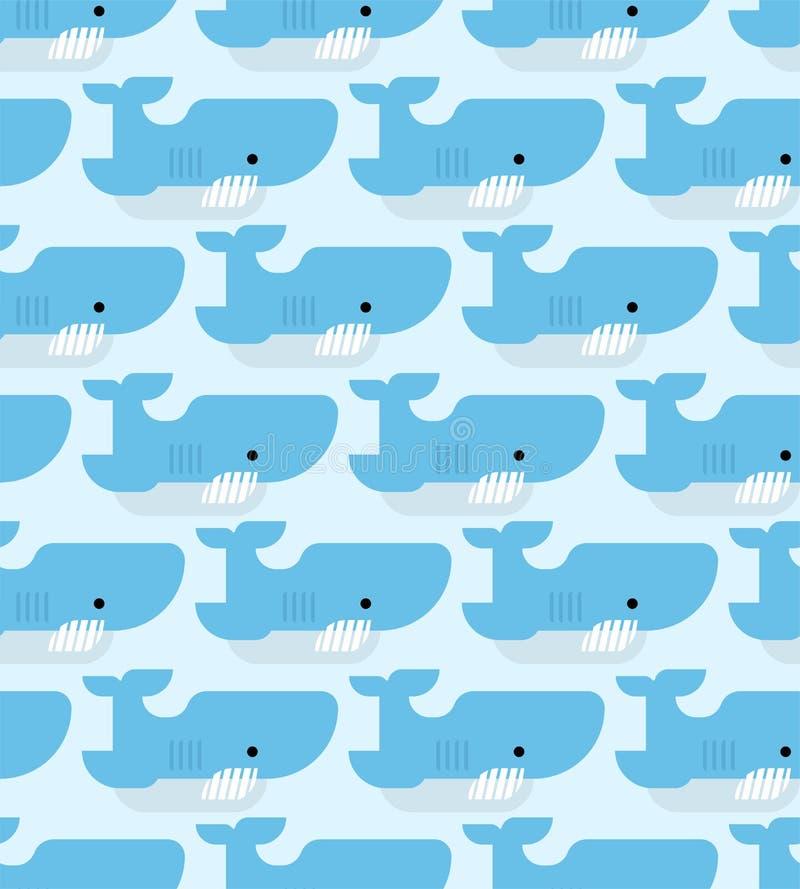 鲨鱼样式无缝的动画片样式 水下的食肉动物的背景 婴孩布料的纹理 r 向量例证