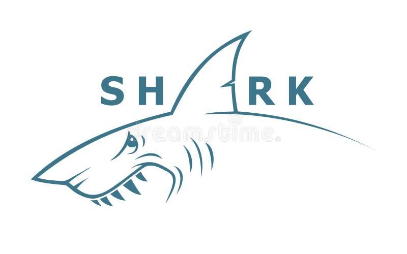 鲨鱼横幅 皇族释放例证