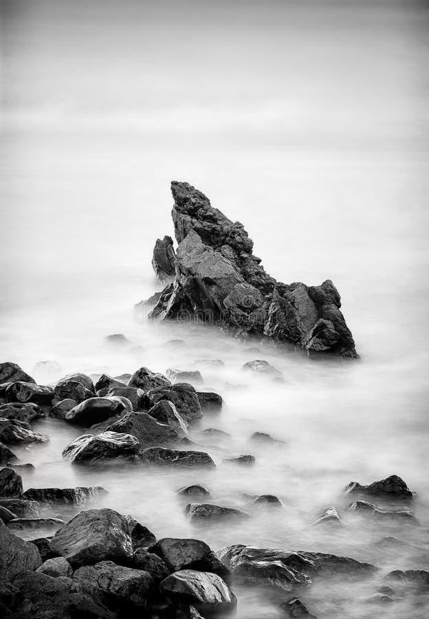 鲨鱼牙岩石在毛伊 库存图片