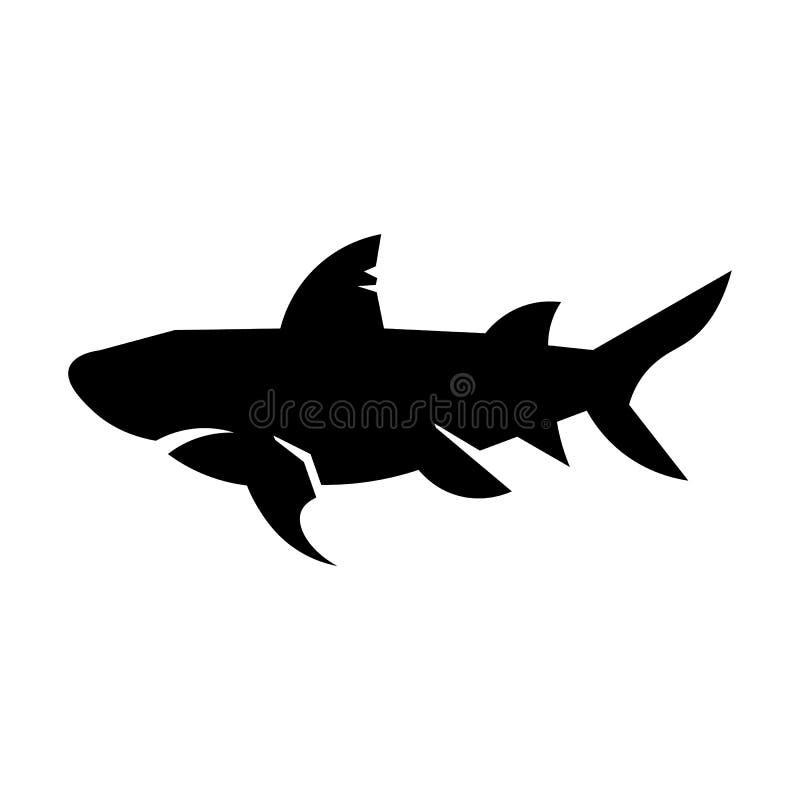 鲨鱼象传染媒介 皇族释放例证