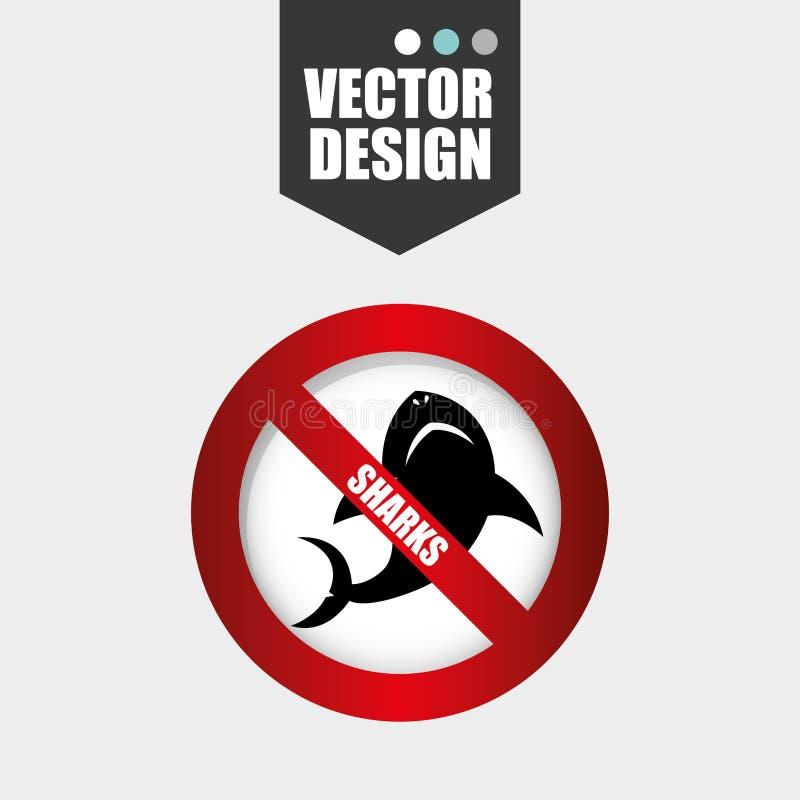 鲨鱼象设计 库存例证