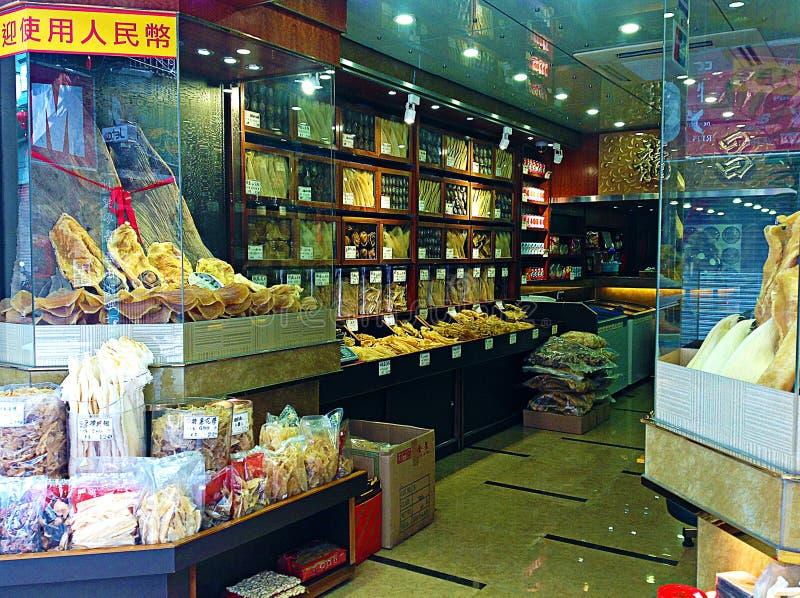 鲨鱼飞翅商店 免版税图库摄影