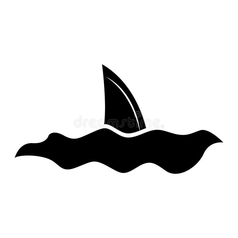 鲨鱼飞翅被隔绝的象 库存例证