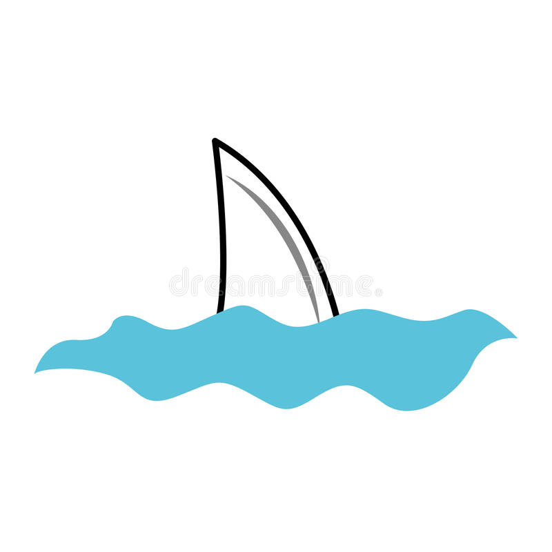 鲨鱼飞翅被隔绝的象 皇族释放例证