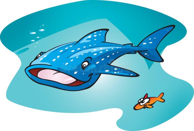 鲨鱼鲸鱼 向量例证