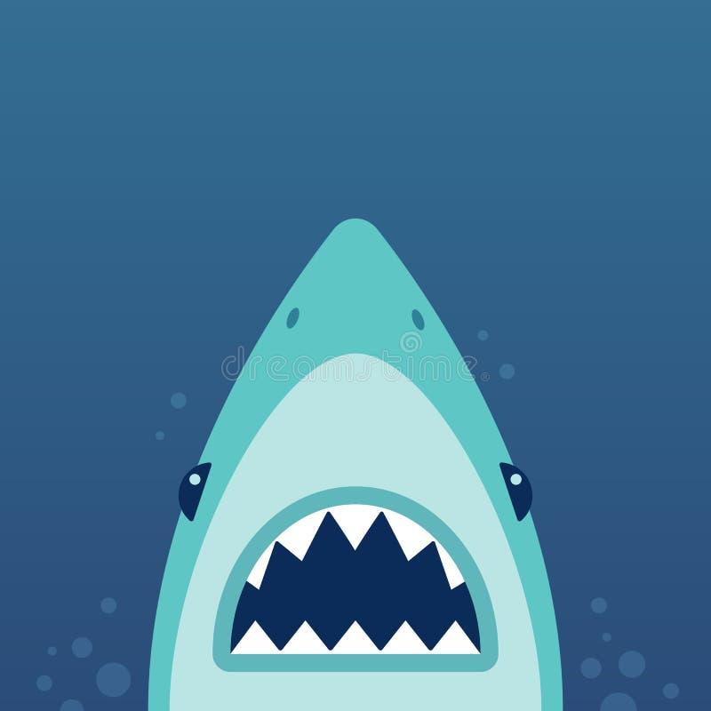 鲨鱼攻击例证 库存例证
