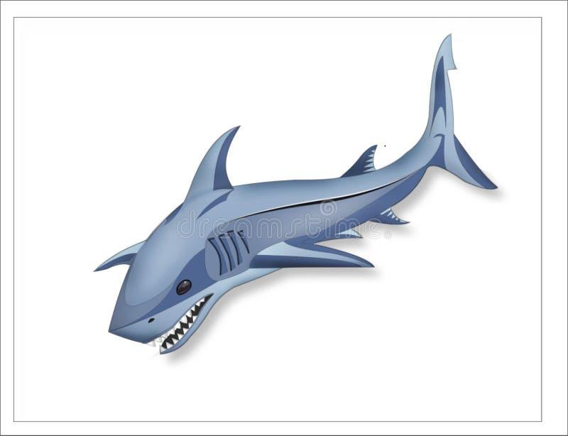 鲨鱼3d商标商标 向量例证