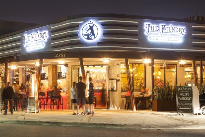 鲳参海滩的,佛罗里达餐馆 免版税库存照片