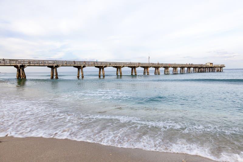鲳参海滩码头,佛罗里达 免版税库存图片
