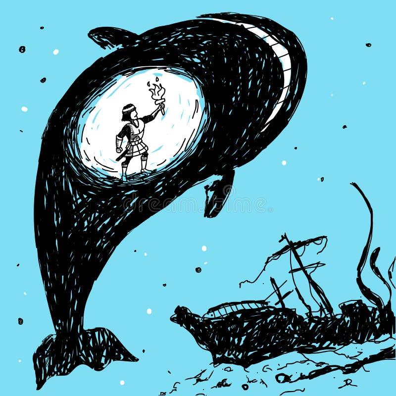 鲸鱼传染媒介例证的腹部 向量例证