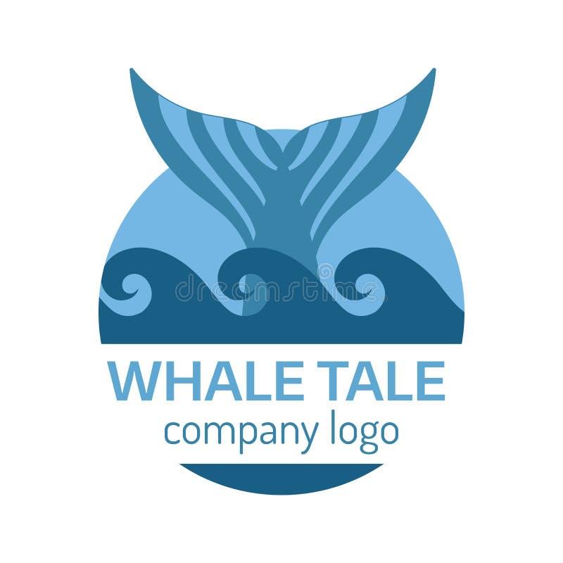 鲸鱼尾巴标签 皇族释放例证