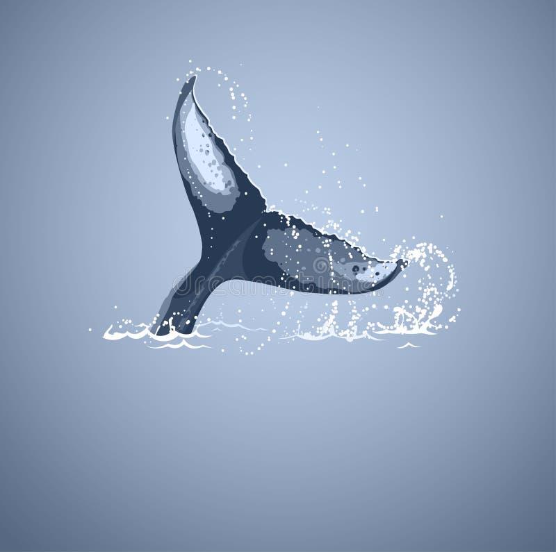 鲸鱼尾巴 库存例证