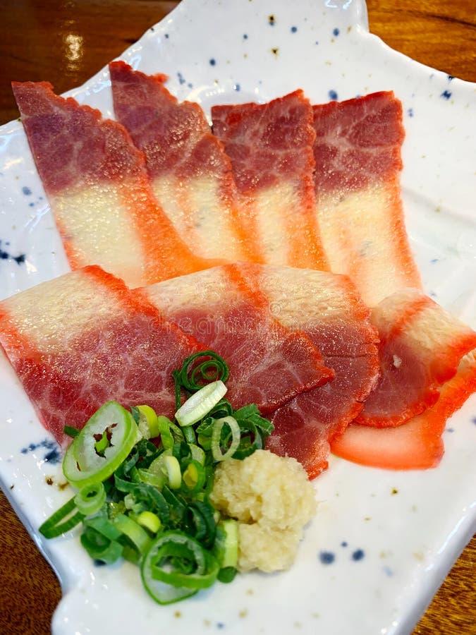 鲸鱼烟肉 库存图片