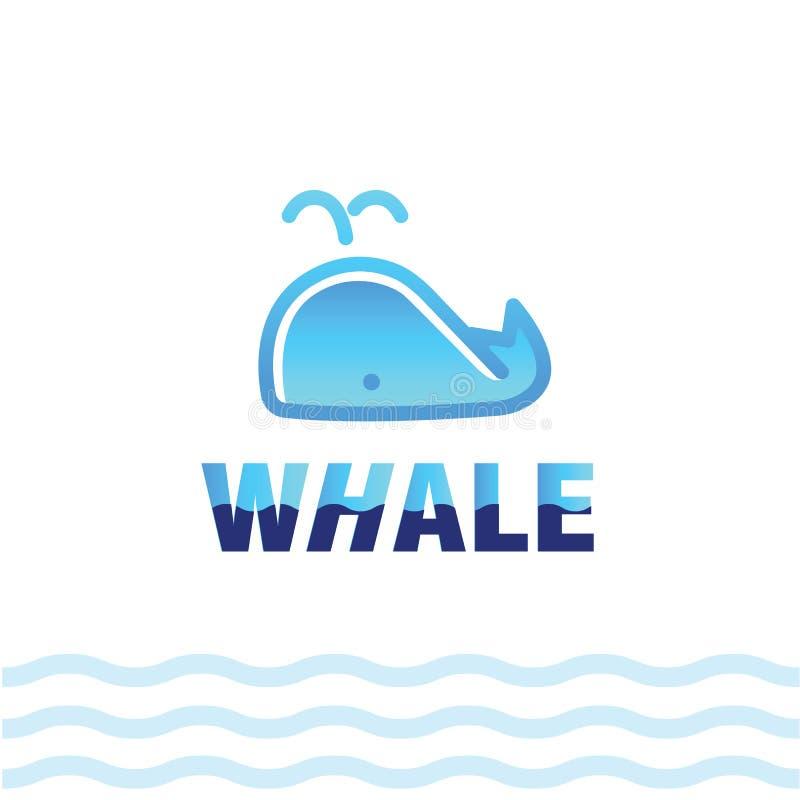 鲸鱼线性风格化图画  向量例证