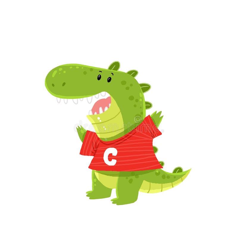 鳄鱼动画片 库存图片